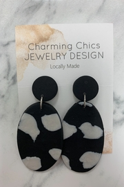 Charming Chics Cow Pearl Earrings - Product Mini Image