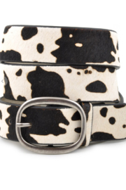 Anzell Cow Print Belt - Front cropped