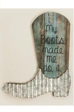MWW Cowboy Boot Sign - Product List Image