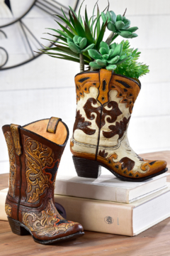Giftcraft Inc.  Cowboy Boot Vase - Product List Image