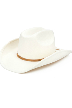 Shoptiques Product: Cowboy Hat with Faux Band