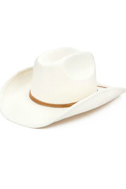 San Diego Hat Company Cowboy Hat with Faux Band - Front cropped