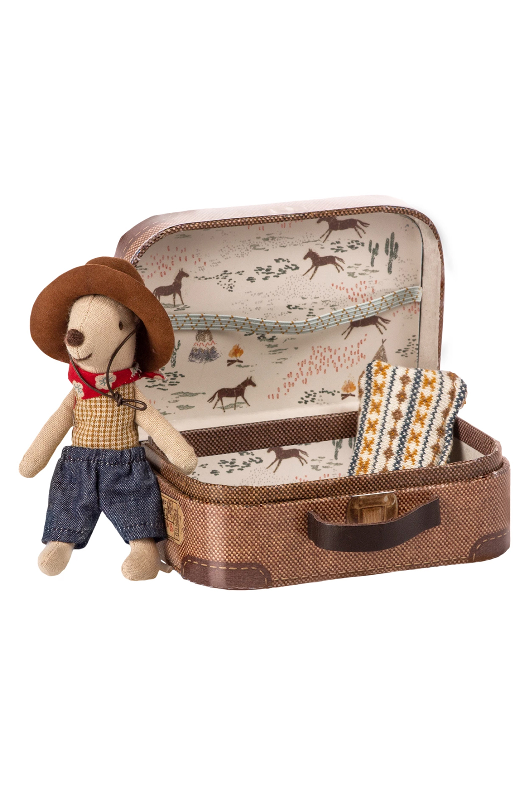 Maileg Cowboy Mouse In Suitcase - Main Image