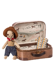 Maileg Cowboy Mouse In Suitcase - Front cropped