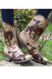 Old Gringo Cowboy Up Boot - Front full body