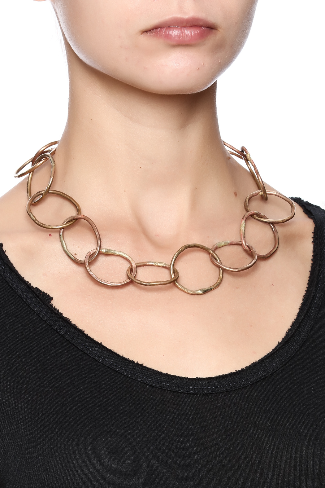 Cowgirl Chile Co. Jewelry Arrondissement Chain Necklace - Back Cropped Image
