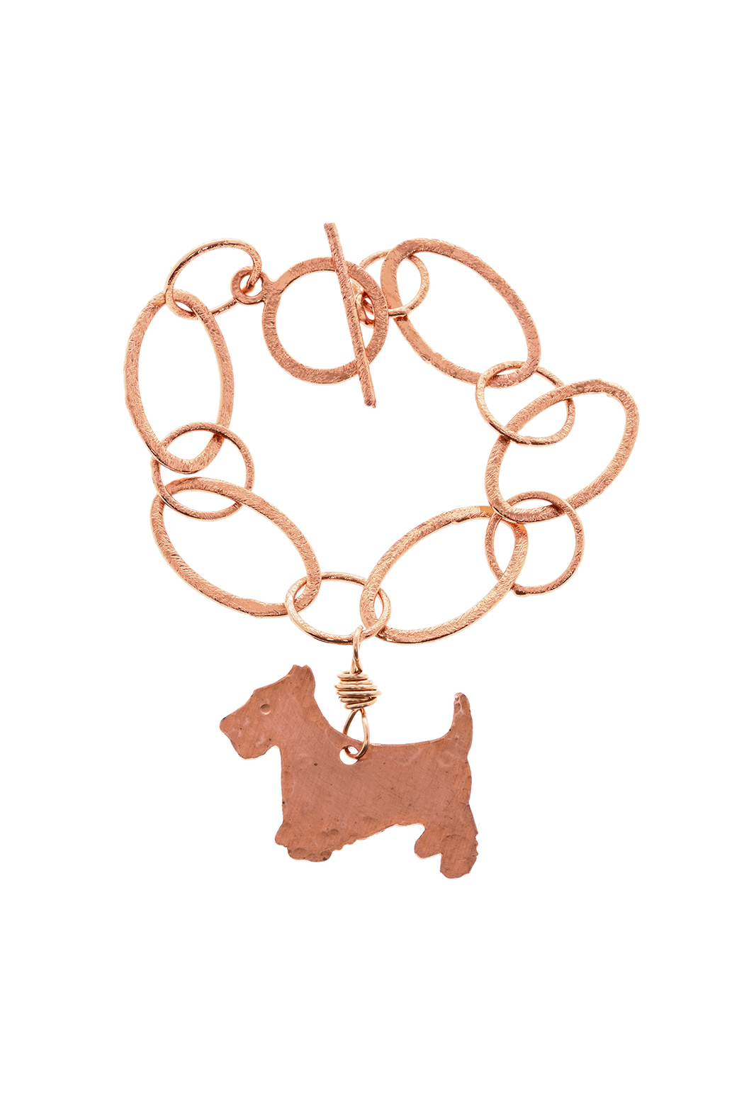 Cowgirl Chile Co. Jewelry Copper Terrier Bracelet - Front Cropped Image