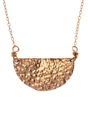 Cowgirl Chile Co. Jewelry Crescent Necklace - Front full body