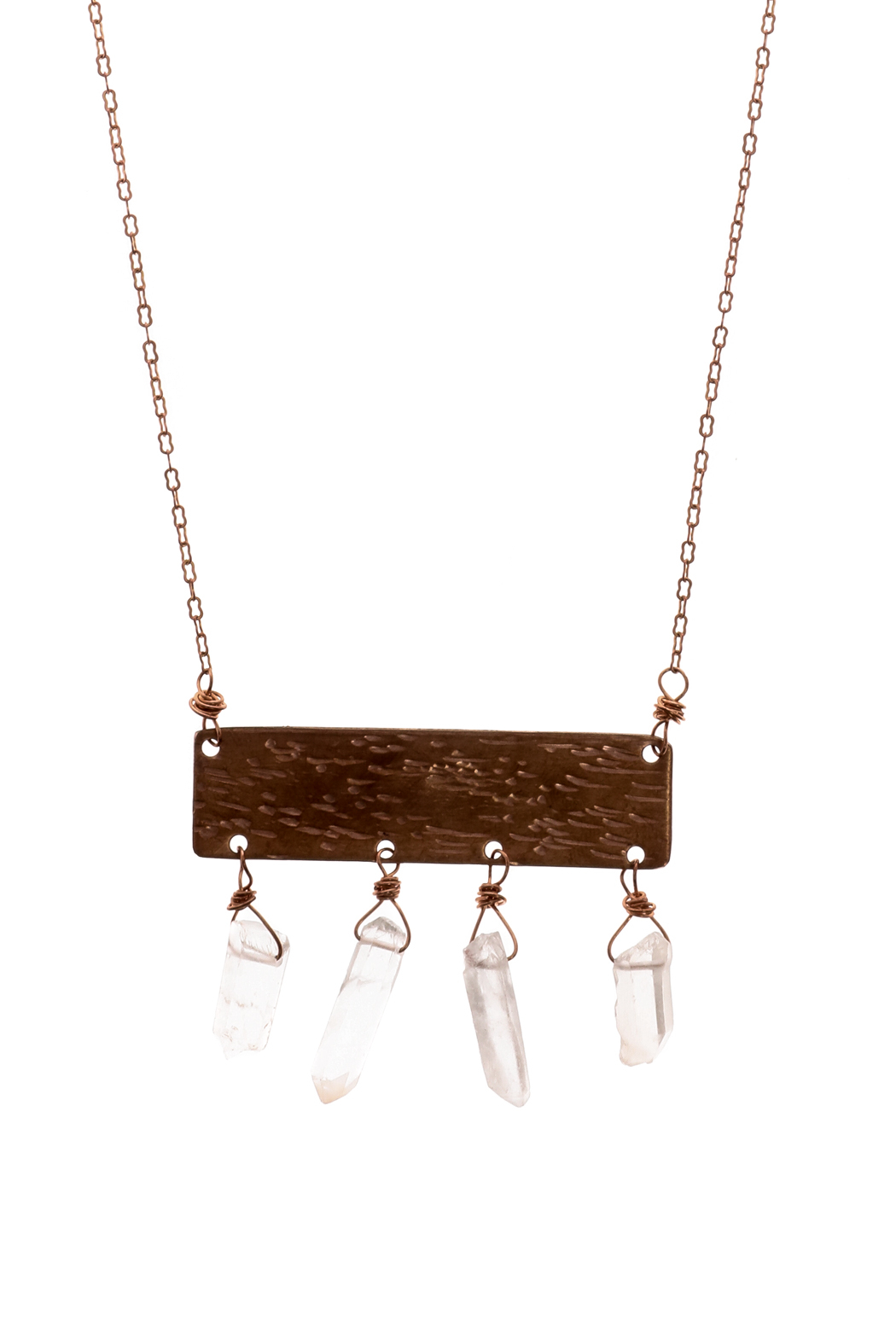 Cowgirl Chile Co. Jewelry Crystal Tablet Necklace - Front Full Image