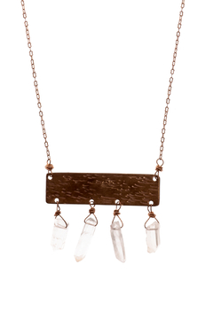 Cowgirl Chile Co. Jewelry Crystal Tablet Necklace - Alternate List Image