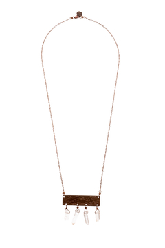 Shoptiques Product: Crystal Tablet Necklace
