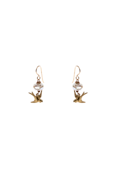 Cowgirl Chile Co. Jewelry Flying Bird Earrings - Alternate List Image