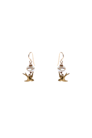 Cowgirl Chile Co. Jewelry Flying Bird Earrings - Front cropped