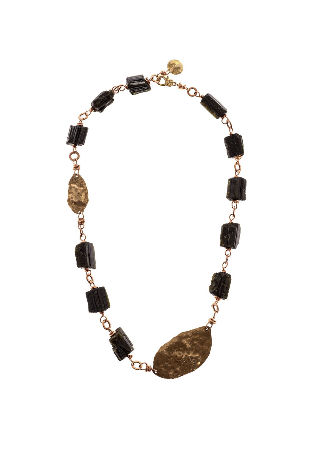 Cowgirl Chile Co. Jewelry Tourmaline Petal Necklace - Front Cropped Image