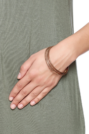 Cowgirl Chile Co. Jewelry Trois Bronze Bangles - Back cropped