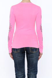 Cowgirl Tuff Junior's Pink Tee - Back cropped