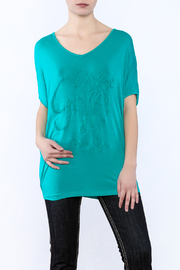 Cowgirl Tuff Never Give Up Top - Front cropped
