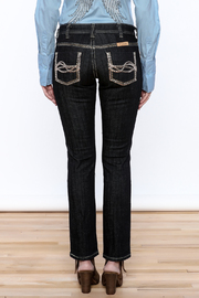 Cowgirl Tuff Straight Golden Jeans - Back cropped