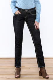 Cowgirl Tuff Straight Golden Jeans - Front cropped