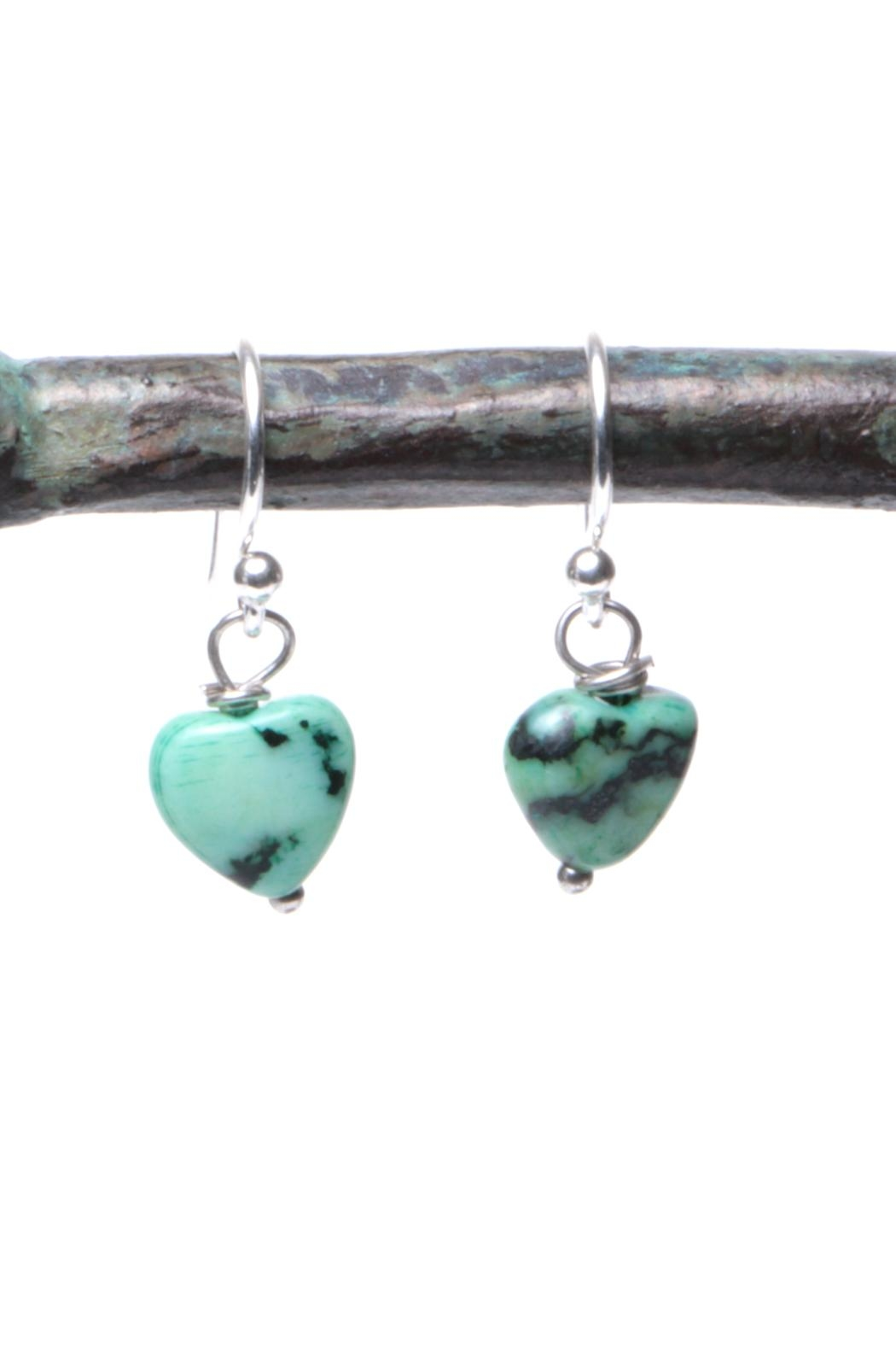 Cowgirl Chile Co. Jewelry Agate Heart Earrings - Main Image