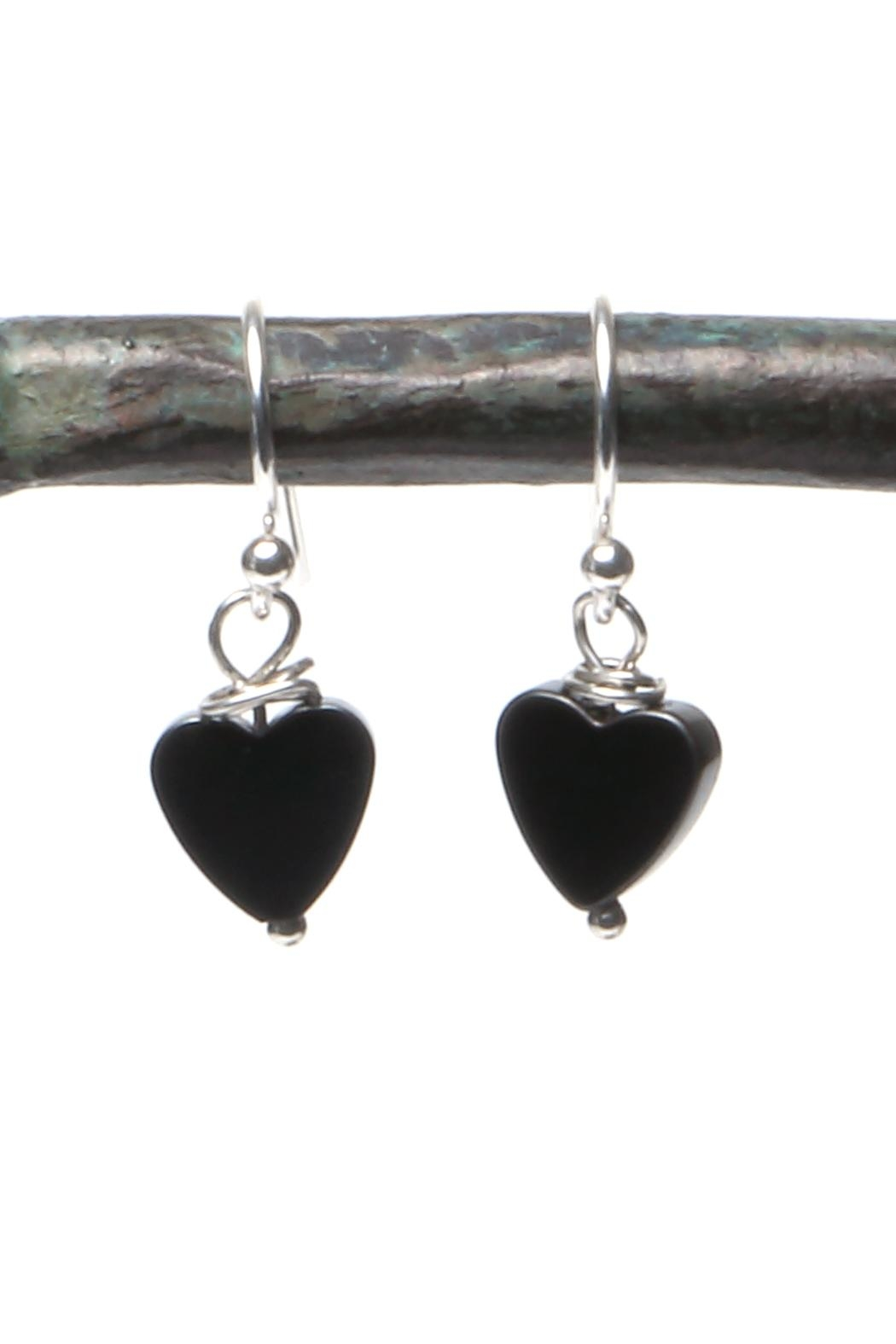 Cowgirl Chile Co. Jewelry Black Heart Earrings - Main Image