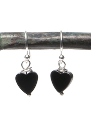 Cowgirl Chile Co. Jewelry Black Heart Earrings - Front cropped