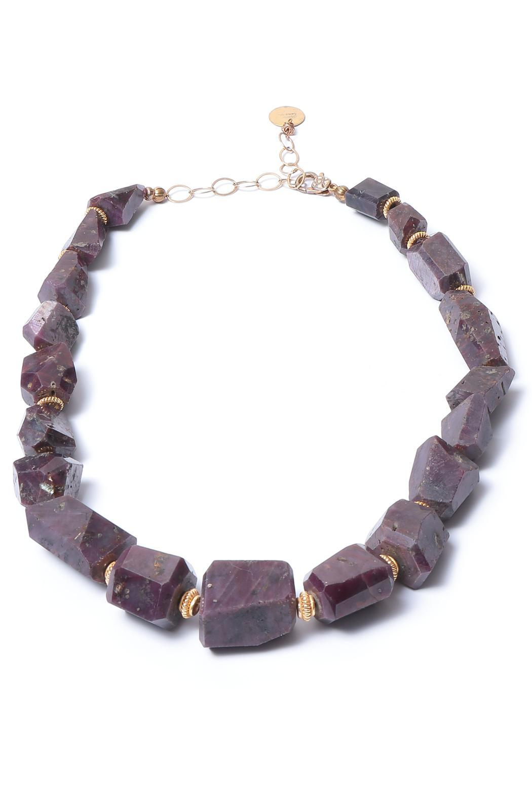 Cowgirl Chile Co. Jewelry Boho Ruby Necklace - Main Image
