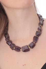 Cowgirl Chile Co. Jewelry Boho Ruby Necklace - Front full body