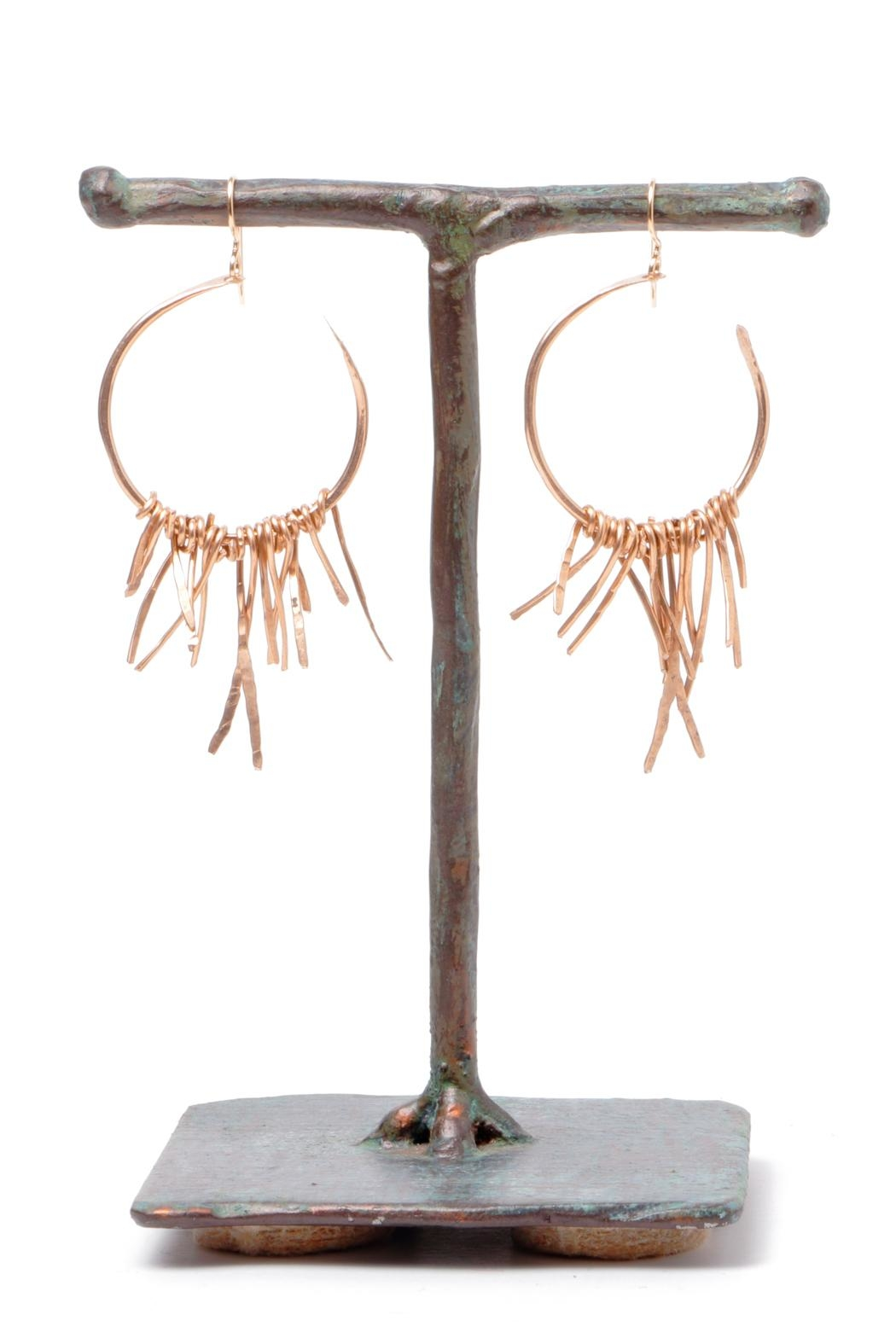 Cowgirl Chile Co. Jewelry Bronze Fringe Earrings - Main Image