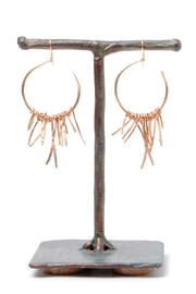 Cowgirl Chile Co. Jewelry Bronze Fringe Earrings - Front cropped