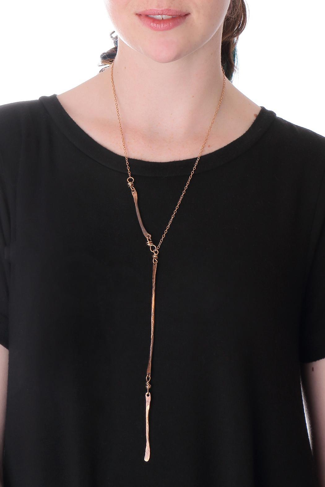 Cowgirl Chile Co. Jewelry Bronze Stick Necklace - Front Full Image
