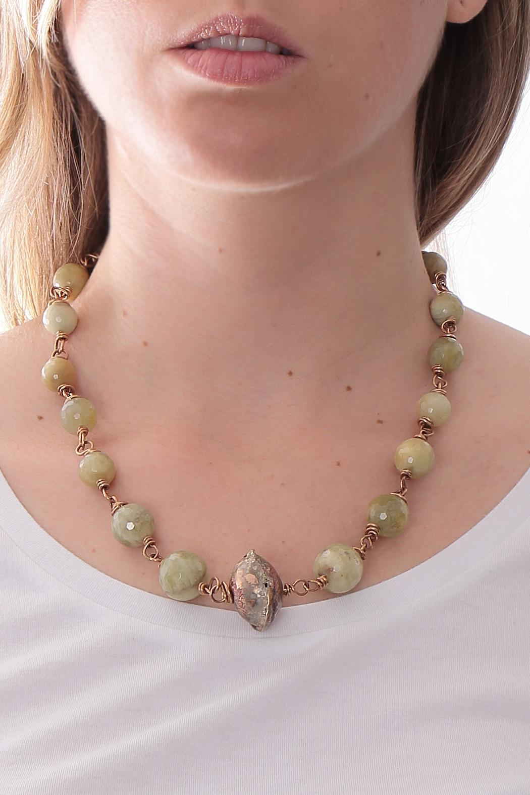 Cowgirl Chile Co. Jewelry Golden Beryl Necklace - Front Full Image