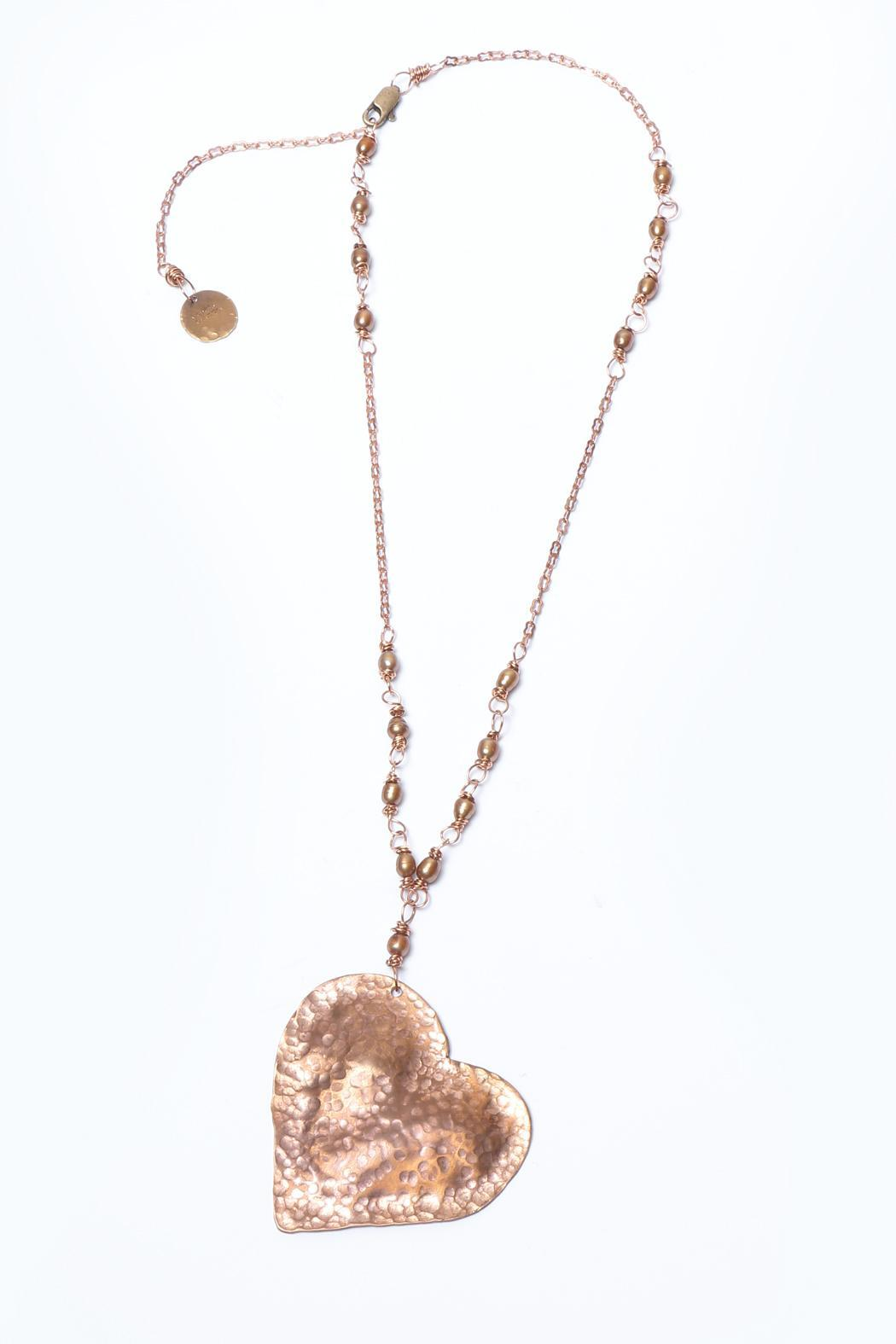 Cowgirl Chile Co. Jewelry Heart & Pearls Necklace - Main Image