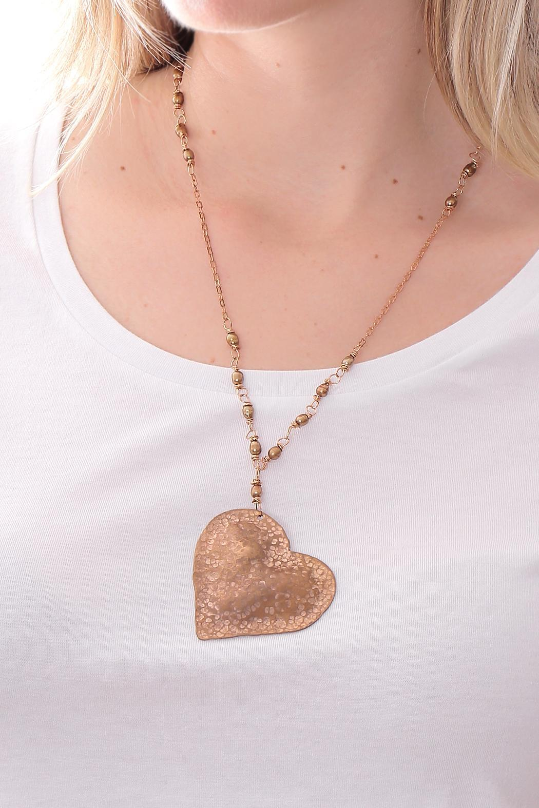 Cowgirl Chile Co. Jewelry Heart & Pearls Necklace - Front Full Image