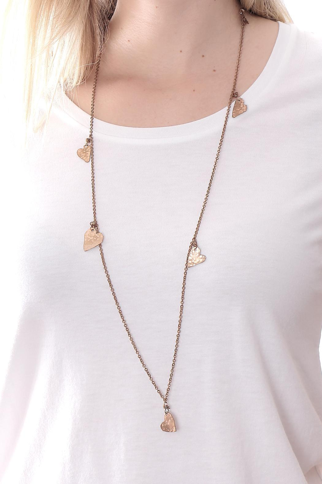 Cowgirl Chile Co. Jewelry Heart Station Necklace - Front Full Image