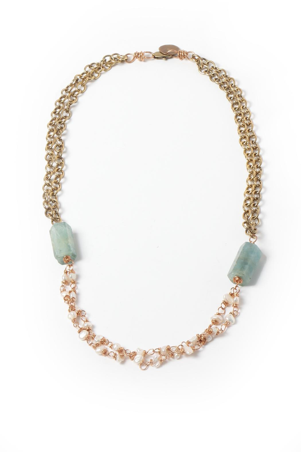 Cowgirl Chile Co. Jewelry Louvre Aquamarine Necklace - Main Image