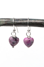 Cowgirl Chile Co. Jewelry Purple Heart Earrings - Front cropped