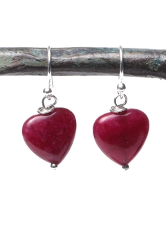 Shoptiques Product: Red Heart Earrings