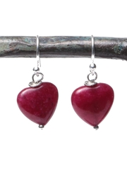 Cowgirl Chile Co. Jewelry Red Heart Earrings - Front cropped
