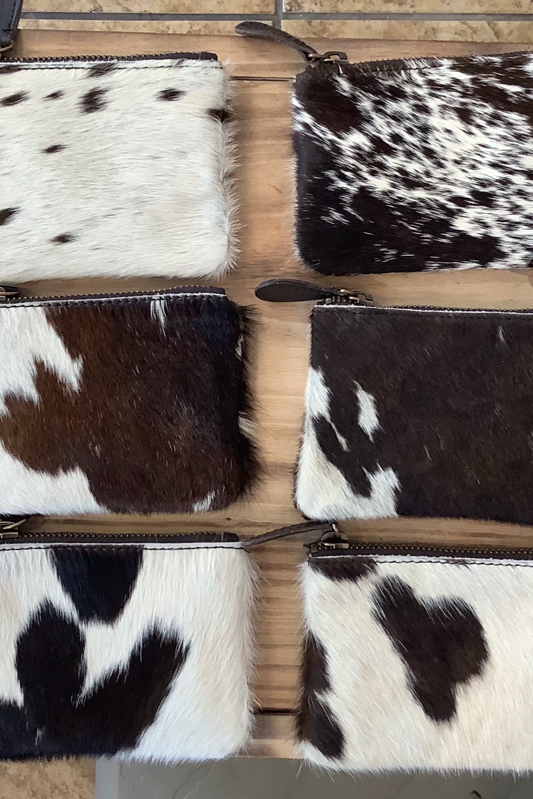 Kindred Mercantile  Cowhide change purse (assorted print) - Main Image