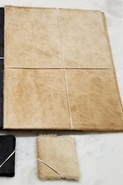 BS TRADING Cowhide Coasters Tan - Set of 2 - Product Mini Image