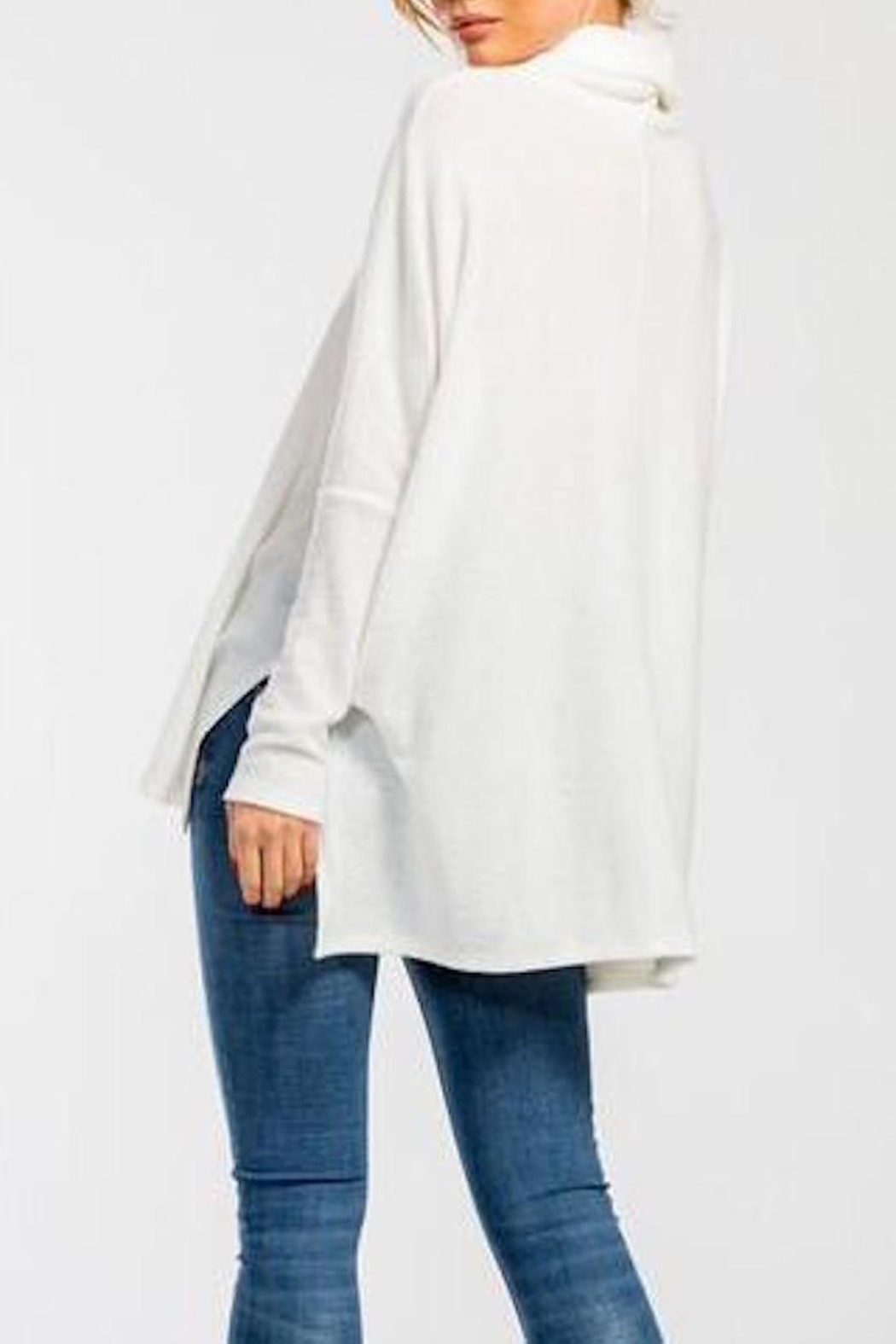 Cherish Cowl-Neck High-Low Top - Back Cropped Image