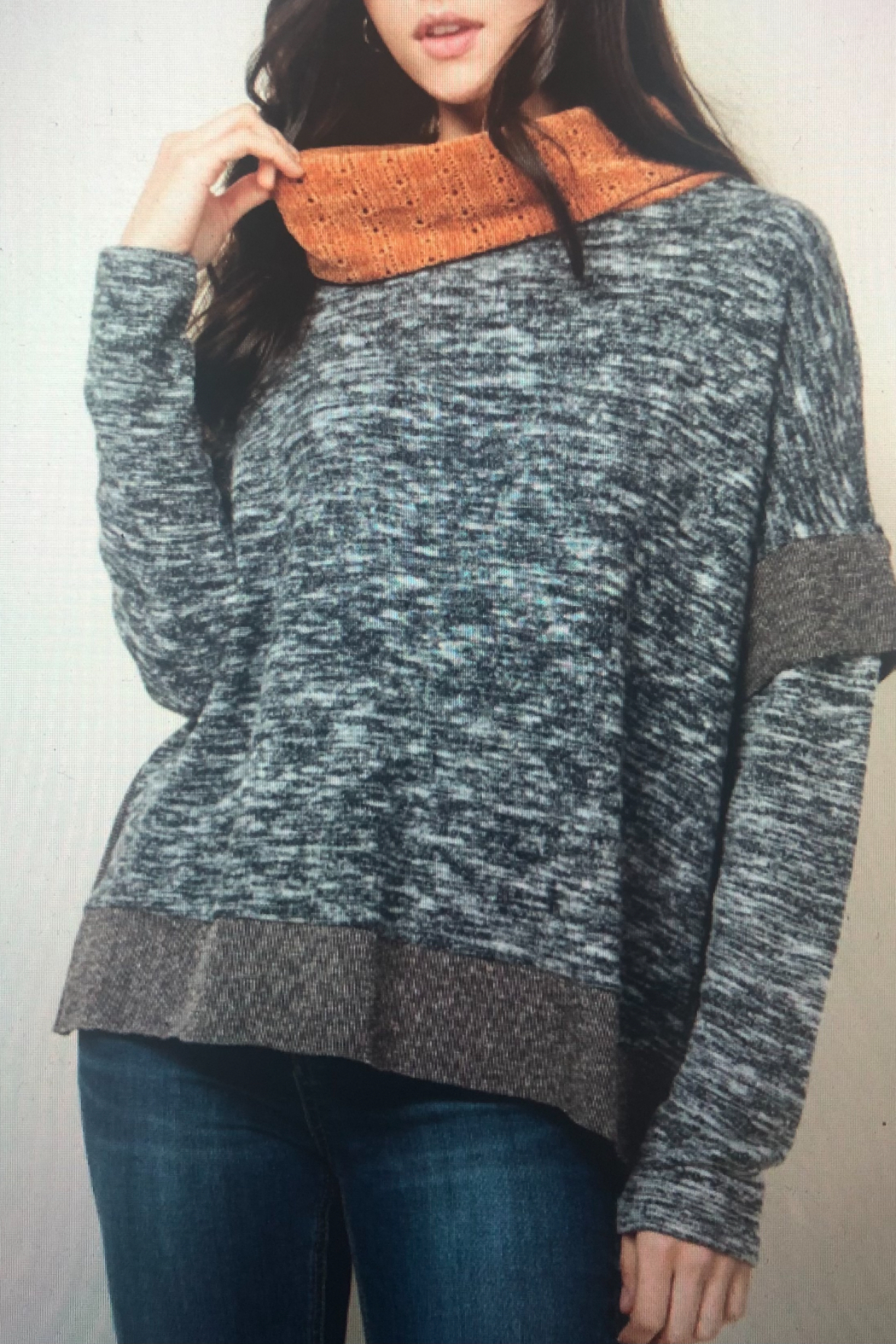 Thml COWL NECK KNIT TOP - Main Image