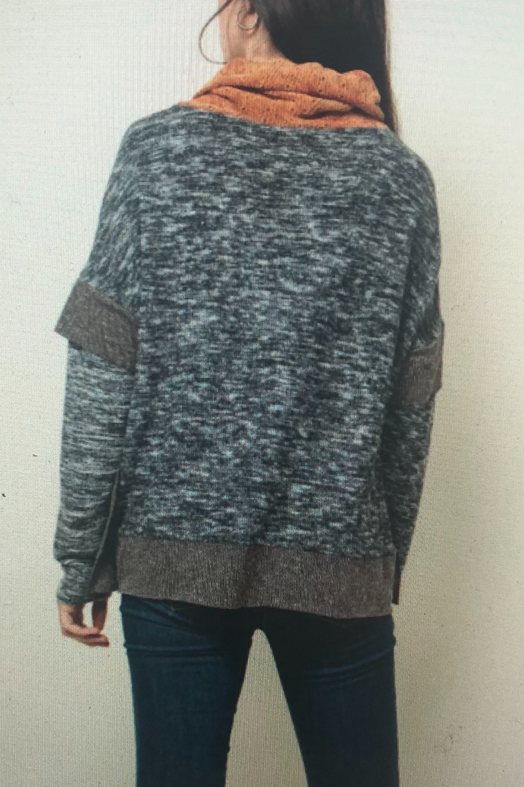 Thml COWL NECK KNIT TOP - Front Full Image