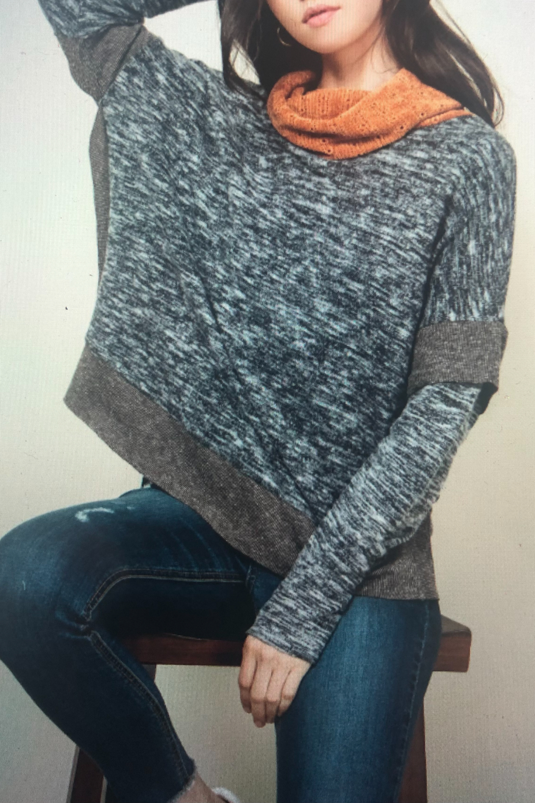 Thml COWL NECK KNIT TOP - Side Cropped Image