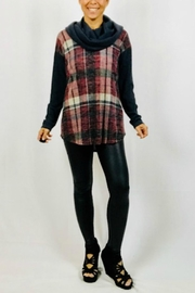 Chris & Carol Cowl-Neck Plaid Tunic - Product Mini Image