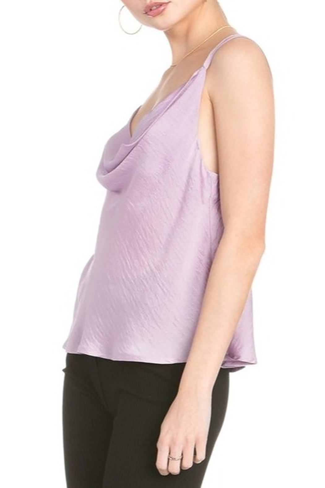 Dance and Marvel Cowl Neck Satin Cami - Front Full Image