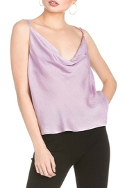 Dance and Marvel Cowl Neck Satin Cami - Front cropped