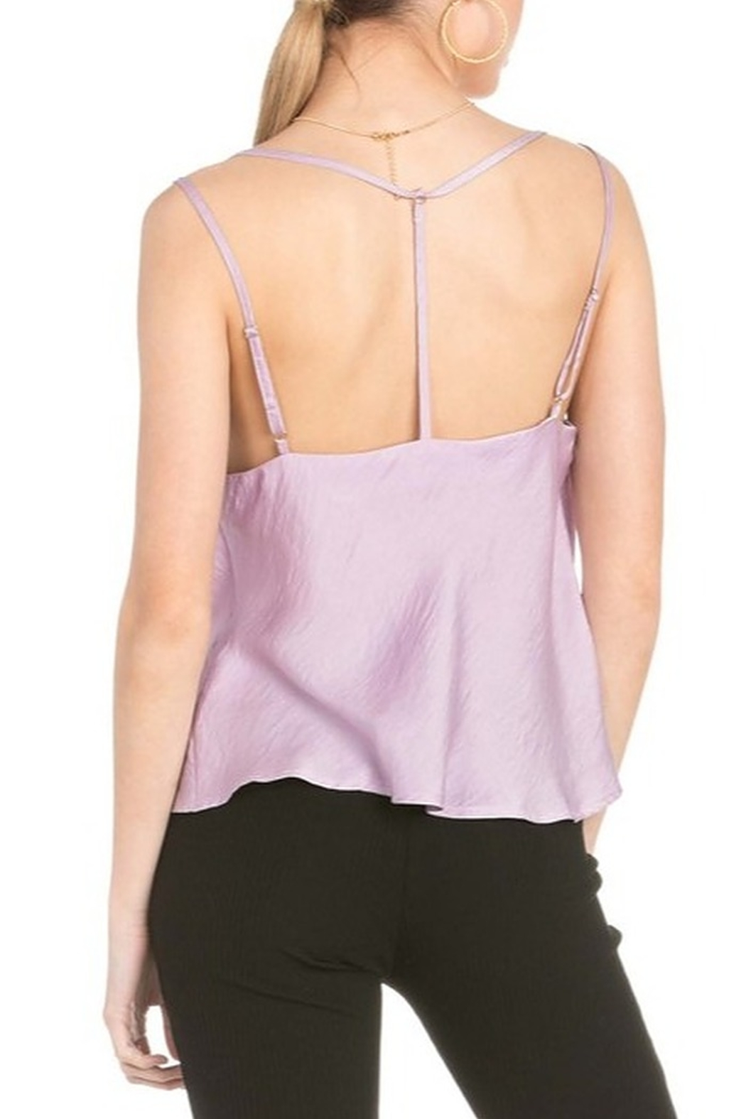 Dance and Marvel Cowl Neck Satin Cami - Side Cropped Image