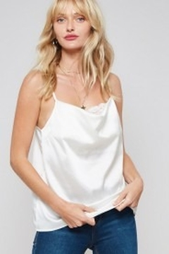 Promesa Cowl Neck Satin Lace Cami - Product List Image